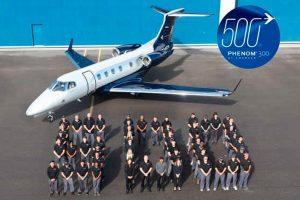 Embraer entrega o 500º Phenom 300, o jato executivo mais bem-sucedido da década