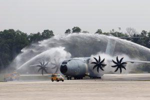 A400M utilizado por primeira vez para entrega de ajuda humanitária pela Força Aérea Real da Malásia