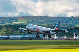 Primeiro voo da unidade de demonstração da asa de fluxo laminar da Airbus
