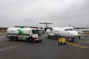 Primeiro voo de um ATR com biocombustível