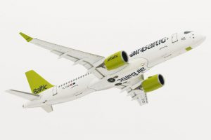 Primeiros 100 voos do CS300 da airBaltic