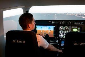 A escola Portuguesa Aeronautical Web Academy (AWA) faz a aquisição de um simulador de voo ALSIM FNPT II AL250
