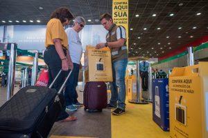 Aeroporto de Brasília promove ação para medir bagagens de mão