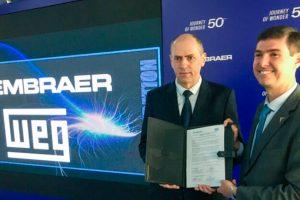 Embraer e WEG firmam acordo de cooperação tecnológica em sistema de propulsão aeronáutica elétrica