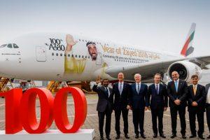 Emirates recebe seu centésimo A380