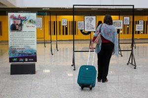 Passageiros do Aeroporto Afonso Pena podem conferir exposição de desenhos