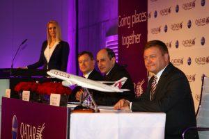 Qatar Airways apresentará em março o seu novo assento da Classe Executiva