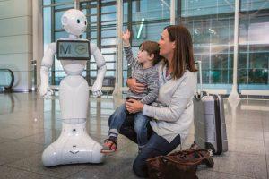 Lufthansa e aeroporto de Munique começaram os testes de um robot no Terminal 2