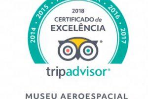 Museu Aeroespacial ganha certificado de Excelência do site TripAdvisor