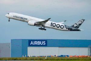 Voo preliminar de longa distância do A350-1000